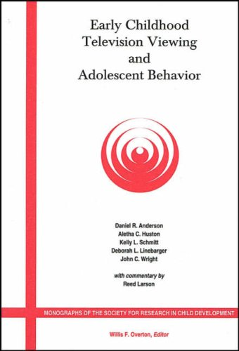 Early Childhood Television Viewing and Adolescent Behavior: Monographs of the Society for Research in Child Development 9780631229223