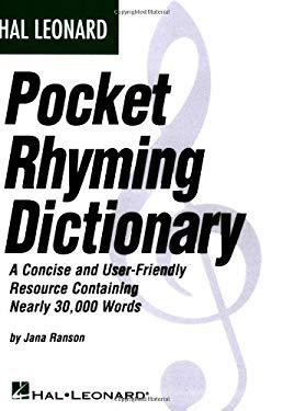 Hal Leonard Pocket Rhyming Dictionary 9780634055911