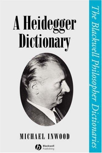 Heidegger Dictionary P 9780631190950