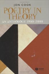 Poetry in Theory: An Anthology 1900-2000 2362751
