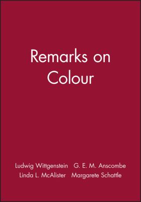 Remarks on Colour 9780631116417