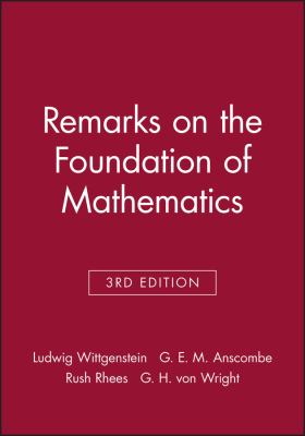 Remarks on the Foundation of Mathematics 9780631125051