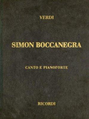 Simon Boccanegra: Canto E Pianoforte 9780634072512