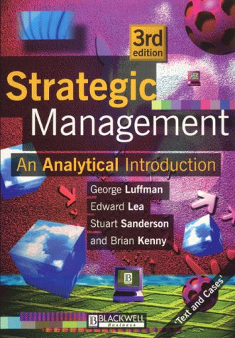 Strategic Management: An Analytical Introduction 9780631201045