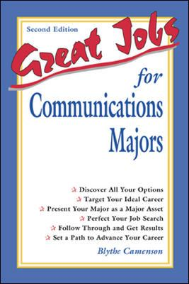 Great Jobs for Communications Majors 9780658017650