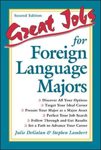 Great Jobs for Foreign Language Majors 9780658004537