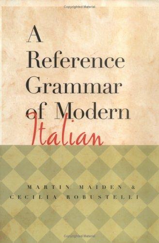 Reference Grammar of Modern Italian 9780658004308