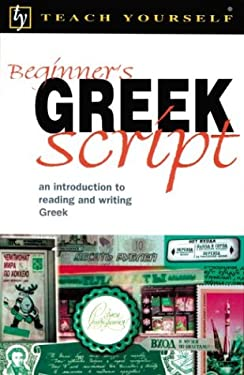 Teach Yourself Beginner's Greek Script 9780658009112