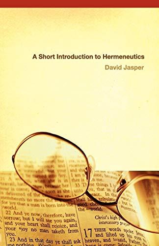 A Short Introduction to Hermeneutics 9780664227517