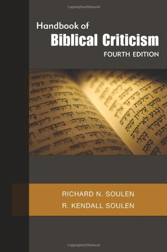 Handbook of Biblical Criticism 9780664235345