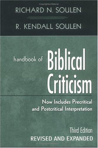 Handbook of Biblical Criticism 9780664223144