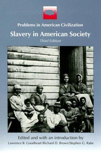 Slavery in American Society 9780669244465