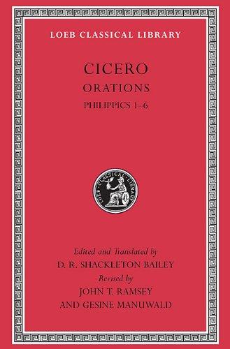Cicero XVa Orations Philippics 1-6 9780674996342
