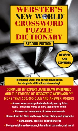 Crossword Puzzle Dictionary 9780671009779