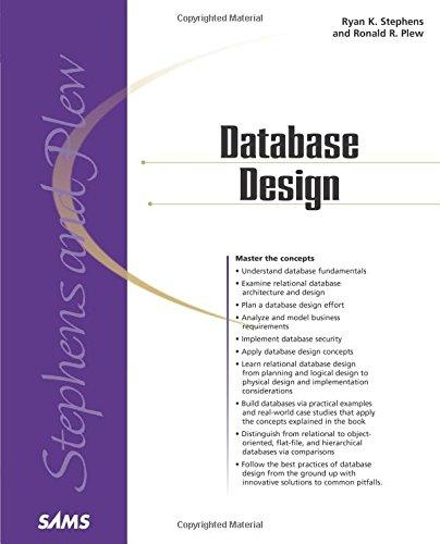 Database Design 9780672317583