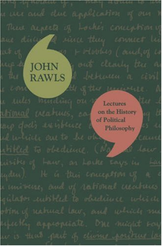 Lectures on the History of Political Philosophy 9780674024922