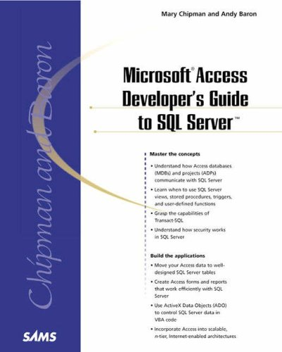 Microsoft Access Developer's Guide to SQL Server 9780672319440