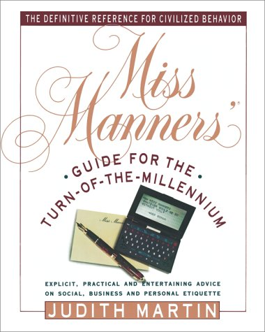 Miss Manners' Guide for the Turn-Of-The-Millennium 9780671722289