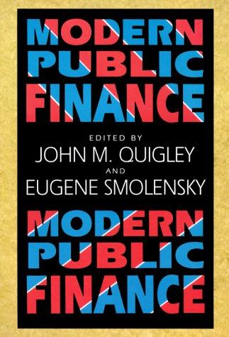Modern Public Finance 9780674004207