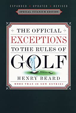 Official Exceptions to the Rules of Golf 9780679741237