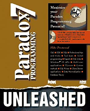 Paradox 7 Programming Unleashed: With CDROM 9780672308956