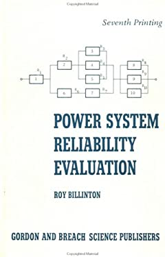 Power System Reliability Evaluation 9780677028705