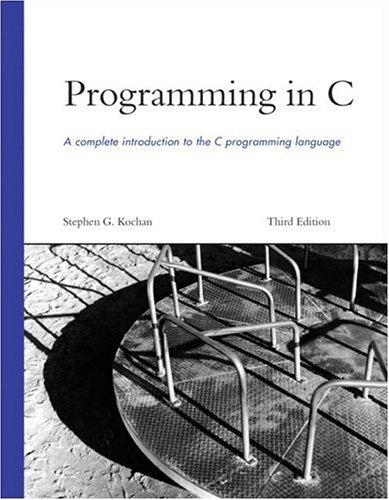 Programming in C 9780672326660