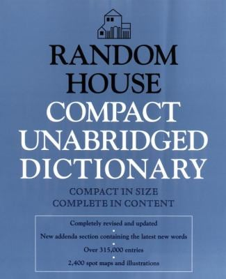 Random House Compact Unabridged Dictionary: Book Only 9780679450269