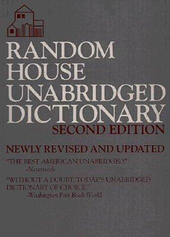 Random House Unabridged Dictionary 9780679429173