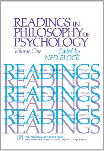 Readings in Philosophy of Psychology, Volume I 9780674748767