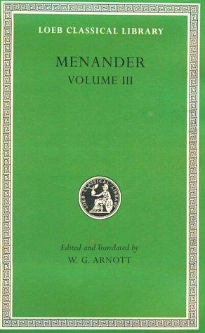 Menander Volume III 9780674995840