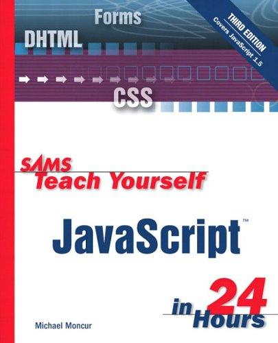 Sams Teach Yourself JavaScript in 24 Hours - 3rd Edition