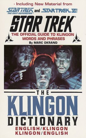 The Star Trek: The Klingon Dictionary 9780671745592