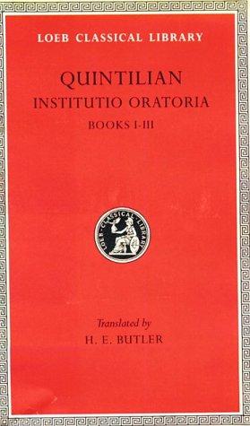 Training of an Orator: Volume I. Books 1-3 9780674991385
