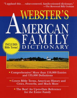 Webster's American Family Dictionary 9780679458012