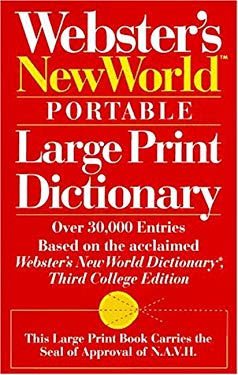Webster's New World Portable Large Print Dictionary 9780671883508