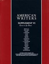 American Writers Supplement VI: A Collection of Literary Biographies