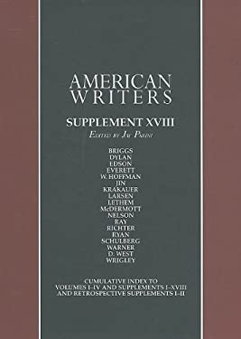 American Writers, Supplement XVIII: A Collection of Literary Biographies 9780684315522