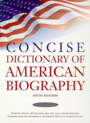 Concise Dictionary of American Biography 2v Set 9780684805498