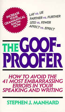 Goof Proofer 9780684838267