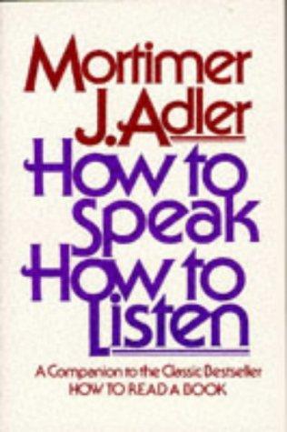 How to Speak How to Listen 9780684846477