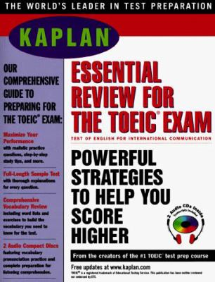 Kaplan Essential Review for the Toeic Exam 1997 W/Audio CD-ROM [With CDROM] 9780684837550