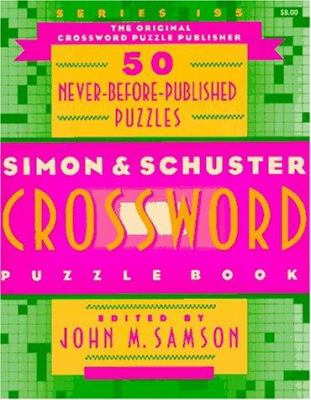 S S Crossword Puzzle Book 195 9780684814735