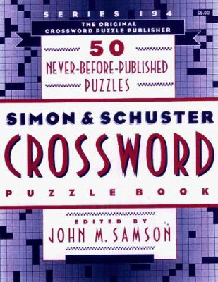 Simon & Schuster Crossword Puzzle Book 194 9780684814728
