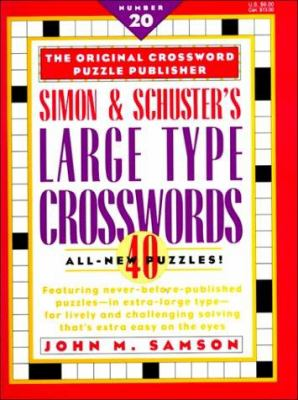 Simon and Schuster Large Type Crosswords 9780684818771