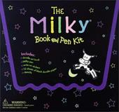 The Milky Book and Pen Kit [With Doodle Art Book and 12 Sheets of Black Doodle Paper and Milky Pen and Stencils]