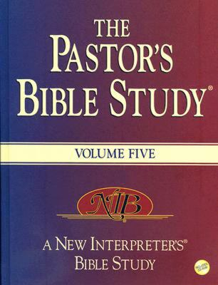 The Pastor's Bible Study, Volume 5 [With CDROM] 9780687495849
