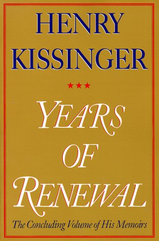 Years of Renewal: The Concluding Volume of His Memoirs 9780684855721