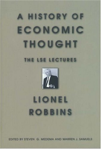 A History of Economic Thought: The LSE Lectures 9780691012445