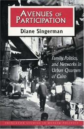 Avenues of Participation: Family, Politics, and Networks in Urban Quarters of Cairo - Singerman, Diane
